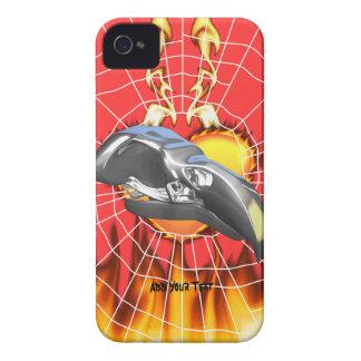 Diseño 1 del cráneo del águila del cromo con el Case-Mate iPhone 4 carcasas