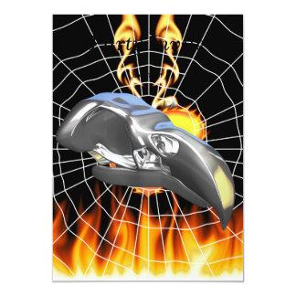 Diseño 1 del cráneo del águila del cromo con el