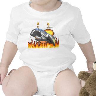 Diseño 1 del cráneo del águila del cromo con el trajes de bebé