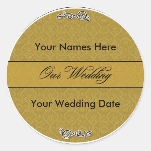 Diseño 1 del pegatina de la elegancia del boda