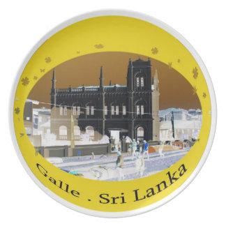 Diseño 1 Galle Sri Lanka de la placa Plato Para Fiesta
