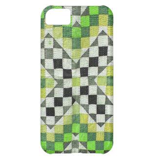 Diseño 1-Green del edredón de Ralli del vintage Funda Para iPhone 5C