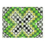 Diseño 1-Green del edredón de Ralli del vintage Tarjeta Postal