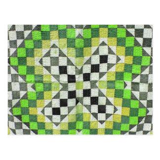 Diseño 1-Green del edredón de Ralli del vintage Postal
