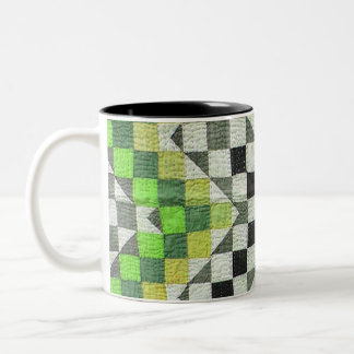 Diseño 1-Green del edredón de Ralli del vintage Taza De Café