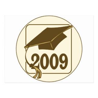 Diseño 2009 del gorra de la graduación tarjeta postal