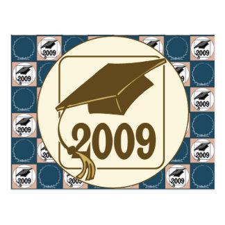 Diseño 2009 del gorra de la graduación tarjetas postales
