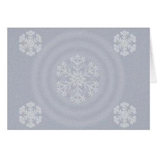 Diseño 2012 del copo de nieve de las Felices Navid Felicitaciones