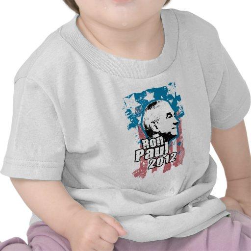 Diseño 2012 del vintage de Ron Paul Camisetas