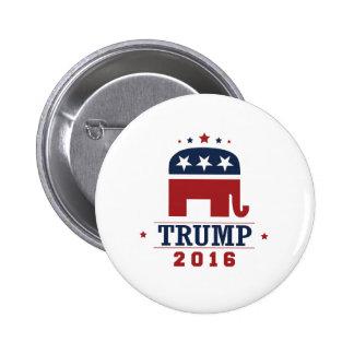 Diseño 2016 del elefante del GOP del triunfo Pin Redondo 5 Cm