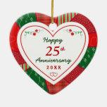 Diseño 25to de 2014 edredones o aniversario de ornamento para reyes magos
