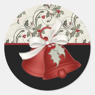 Diseño 2 de Belces de navidad - pegatinas del Pegatina Redonda