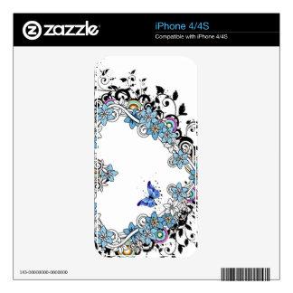 Diseño 2 de la flora skin para el iPhone 4S