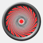 Diseño 2 de la impulsión de la deformación pegatinas redondas