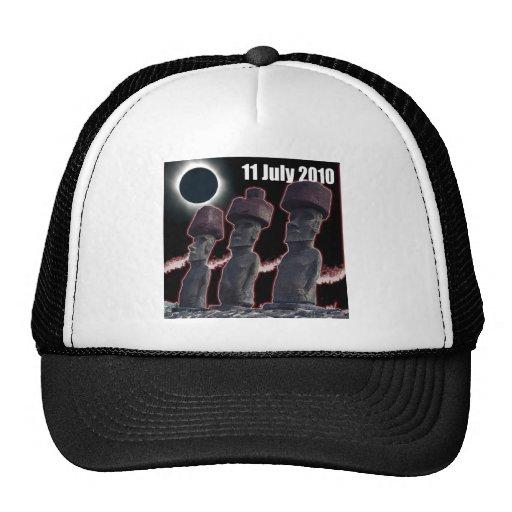 Diseño 2 de la isla de pascua del eclipse gorras