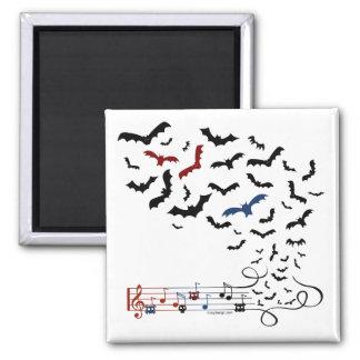 Diseño 2 de la música del palo imán cuadrado