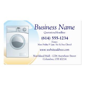 Diseño 2 de la tarjeta de visita de la lavadora de