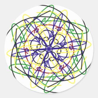 Diseño #2 del caleidoscopio pegatinas redondas