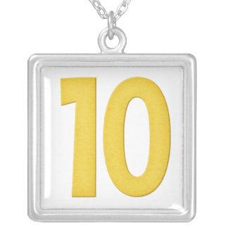 Diseño 2 del collar del número 10