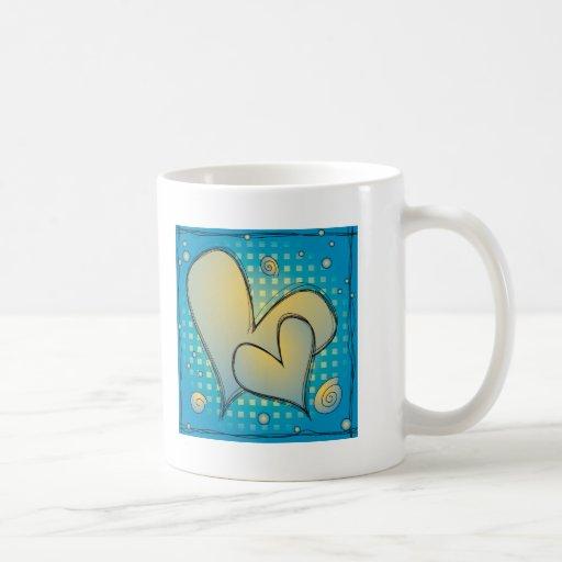 Diseño 2 del corazón taza de café