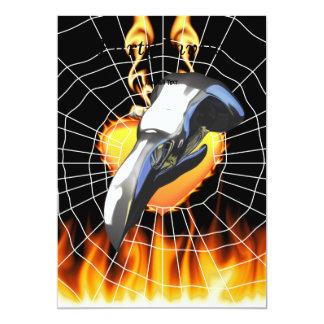 Diseño 2 del cráneo del águila del cromo con el