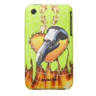 Diseño 2 del cráneo del águila del cromo con el iPhone 3 Case-Mate cárcasa