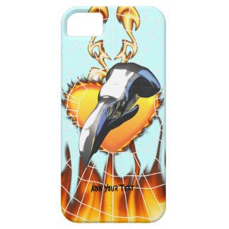 Diseño 2 del cráneo del águila del cromo con el iPhone 5 fundas