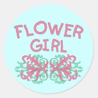 Diseño #2 del florista pegatina redonda
