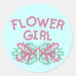 Diseño #2 del florista pegatinas redondas