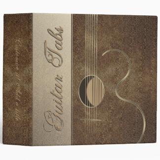"Diseño 2"" del logotipo de la guitarra acústica car"