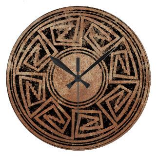 Diseño 2 del nativo americano reloj redondo grande
