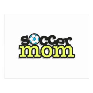 diseño 2 del texto de la mamá del fútbol tarjetas postales