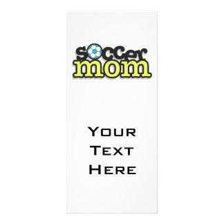 diseño 2 del texto de la mamá del fútbol tarjetas publicitarias