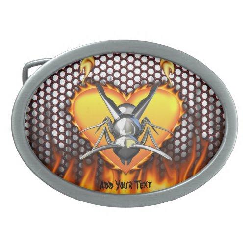 Diseño 3 de la avispa del cromo (chaqueta hebillas cinturon ovales