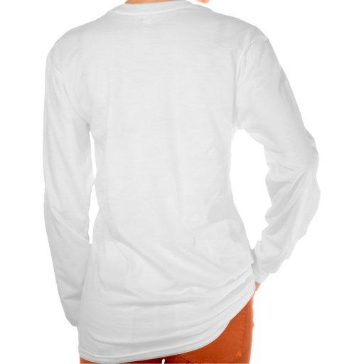 Diseño 3 de la camiseta de Longsleeve de las mujer