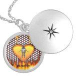 Diseño 3 de la mantis religiosa del cromo con el f collar