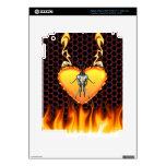Diseño 3 de la mantis religiosa del cromo con el f pegatinas skins para iPad 3