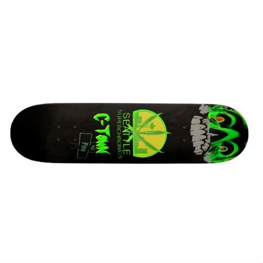 Diseño #3 de Superchronics de la C-Ciudad Tabla De Skate