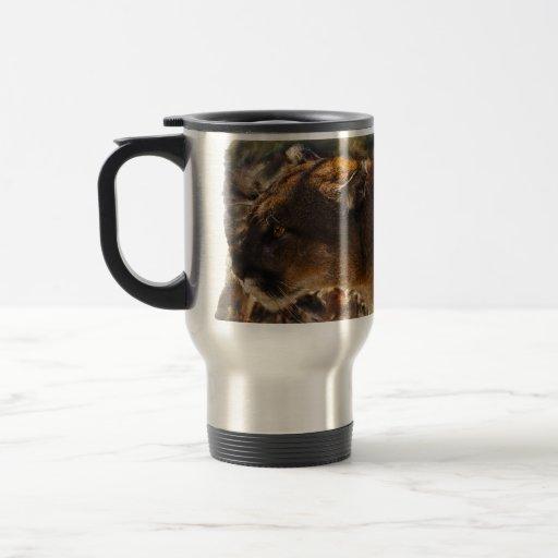 Diseño 4 del arte del gato grande del león de mont taza de café