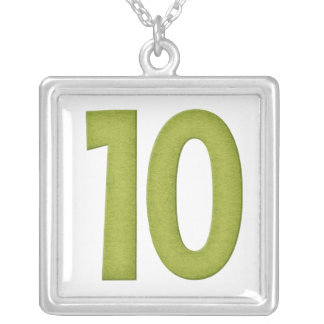 Diseño 4 del collar del número 10