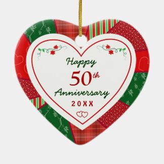 Diseño 50.o de 2014 edredones o aniversario de ornamentos de reyes