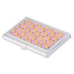 diseño 60s, rosado cajas de tarjetas de negocios