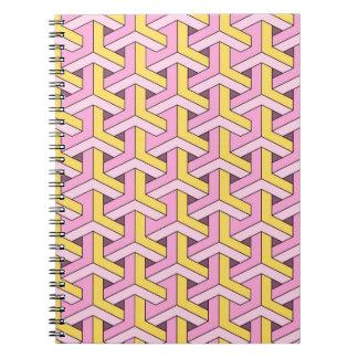 diseño 60s rosado cuadernos