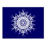 Diseño 6 del copo de nieve tarjeta postal