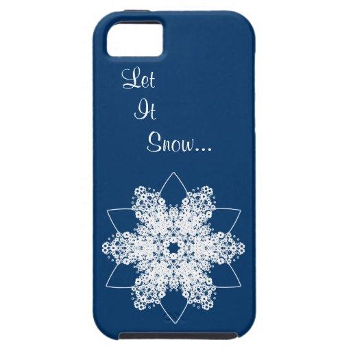 Diseño 7 del copo de nieve iPhone 5 Case-Mate coberturas