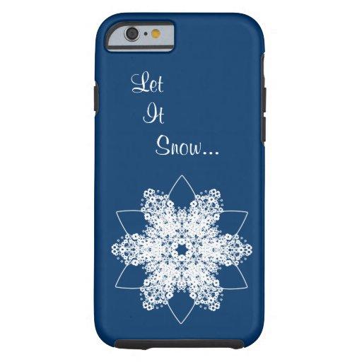Diseño 7 del copo de nieve funda de iPhone 6 tough