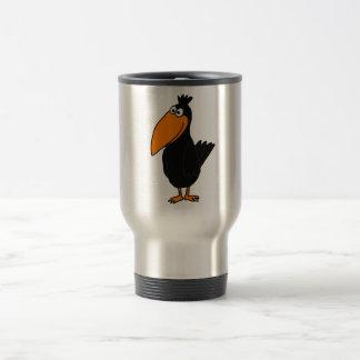 Diseño A.C. divertido del cuervo Taza