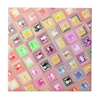Diseño a cuadros colorido azulejo cuadrado pequeño
