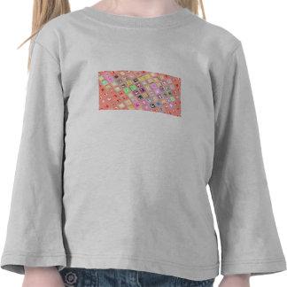 Diseño a cuadros colorido camiseta