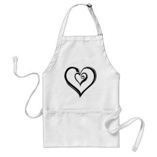 Diseño abierto de los corazones delantal